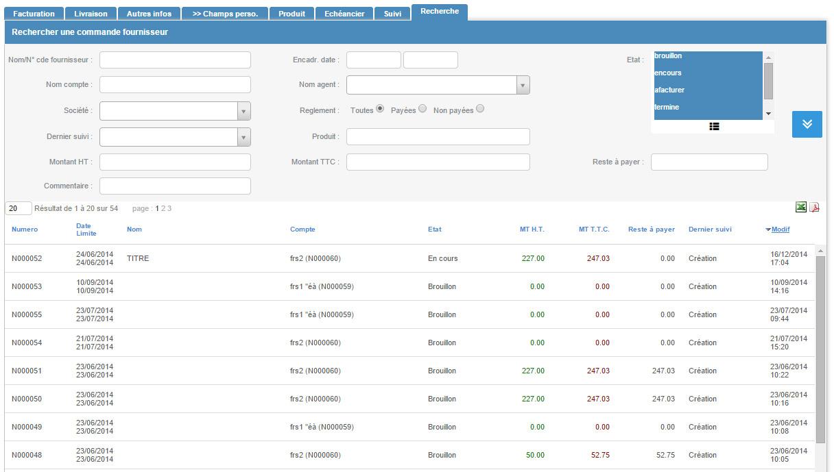 Fonctionnalit s stocks et achats - Delamaison fr suivi de commande ...